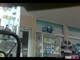 2 Teens Suck Off A Guy In A Store