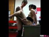 Schoolgirl Gets Fucked On The Principles Desk