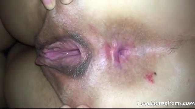 Girlfriend spreads her pussy to welcome my fat cock in
