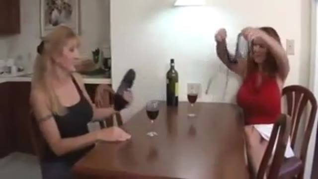 Mom and Aunt Family Threesome