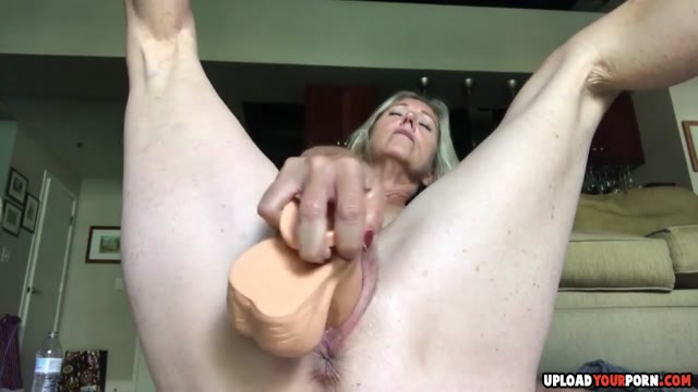 Hairy Pussy Gets Fucked Raw By A Dildo