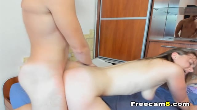 Dude Cums in Girlfriend's Mouth After Fucking Her Hard